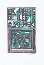 VOLKMAR GÖTZE: Exlibris für Detlef Olschewski