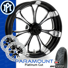 Performance Machine Paramount Platinum Cut Wheel Front Package Harley Touring 21