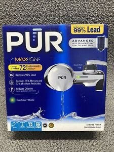 PUR Maxion ~ PFM400H ~ Faucet Mount Water Filter System Chrome with NEW FILTER