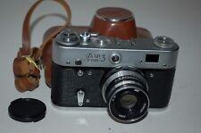 Fed-3 type 2 Vintage Soviet Rangefinder Camera + Case.1960's. (724389) UK Sale.