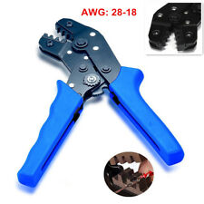 SN-28B Pin Compression Ratcheting Terminal Crimper Crimping Plier Tools AWG28-18