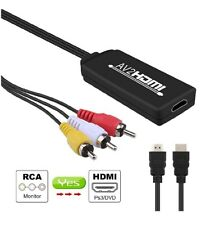 1080P RCA AV to HDMI Video Audio Cable Converter Adapter For TV PS3 Camera XBOX