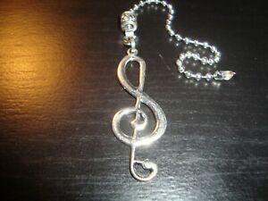 Music Clef Ceiling Fan Pull Chain Light/Lamp Pull