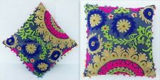 "16x16"" Suzani Pillow Cases Indian Embroidered Cushion Cover Decorative Pillow AB"