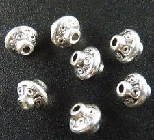 200pcs Tibetan Silver Bicone Spacer Beads 7x6.5mm 1152
