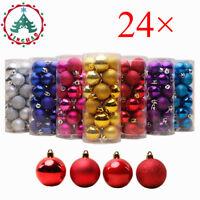 24pcs Party Ornament Christmas Xmas Tree Ball Bauble Hanging Decorations 30mm hi