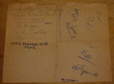 THE CUTTERS ~ SIGNED PAGE SHEET ~ AUTOGRAPH 19654 ~ BRIAN DIAMOND LES THATCHER