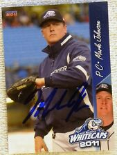 Detroit Tigers Mark Johnson Signed 2011 West Michigan Whitecaps Card Auto