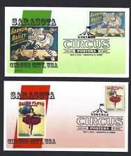 VINTAGE CIRCUS POSTER STAMPS ISSUED 5/5/14 * SET OF 8 FDCs *