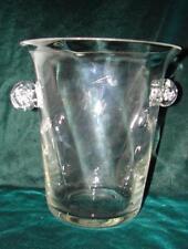 Rare H U G E Art Deco Huge Vintage Hand Blown Art Glass Ice Bucket ~ Very Nice