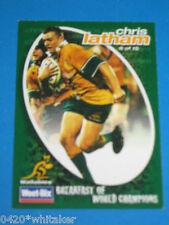 "Wallabies Chris Latham WEET-BIX Rugby Card ""Breakfast of World Champions"" #9"