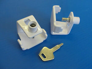 Pack of 5 Security Window STAY CLAMP - Casement Stay Lock White Finish B1045