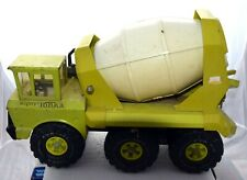 Mighty Tonka Cement Mixer Truck Lime Green Pressed Steel Complete Vintage