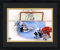 "Frmd Marc-Andre Fleury Penguins Signed 16"" x 20"" 2009 Finals Game 7 Save Photo"