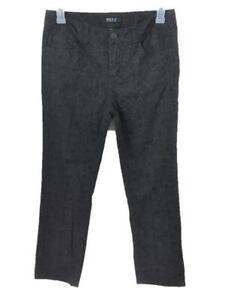 Beau Dawson jeans size 12P petite black floral 4 pockets womens 34 x 29