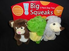 Dog Toys - Big Squeaks, 3-Pack Dog Toys