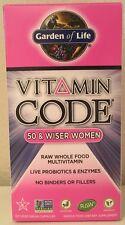 (New) Garden Of Life Vitamin Code 50 & Wiser Women's Multi 120 Caps
