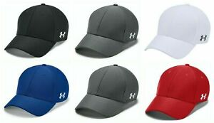 Under Armour Mens Blank Blitzing Cap UA Pre-Curved Stretch Sports Golf Hats