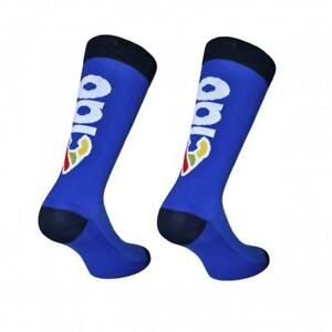 Cinelli 'Ciao' Cycling Socks in Blue - Made Italy
