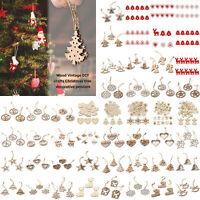Merry Christmas Natural Wood Hanging Holiday Decor Xmas Tree Pendant Ornaments
