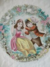 """Royal Doulton 1979 Valentines Day 8.5"""" China Collector Plate - vintage Vg"""