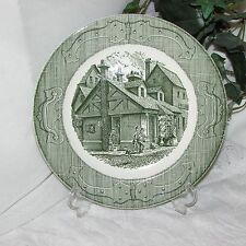 GREEN TRANSFER DINNER PLATE ROYAL CHINA THE OLD CURIOSITY SHOP TRANSFERWARE #1