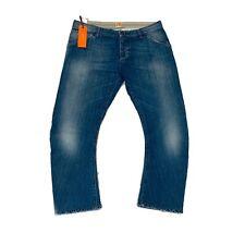 Hugo Boss Orange Orange62 Crushed Blue Jeans Mens 36x25