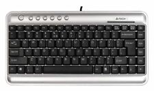 A4Tech KL-5 Space Saver Compact Keyboard Silver/Black (UK Layout)