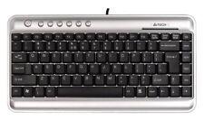 A 4 Tech KL-5 teclado compacto de ahorro de espacio Plateado/negro (Reino Unido Layout)