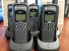 5 Motorola Dtr410 Digital Two Way Radios 900 Mhz with batteries and charges