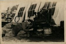 WW2 snapshot REME Royal Electrical Mechanical Engineers ? preparing Engine