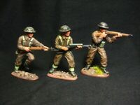 "3 Matchbox WW2 figures  ""British Infantry "" 1:32, 54mm Handpainted High standard"