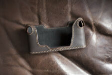Genuine Real Leather Half Camera Case Bag Cover for Olympus OM1 OM2 OM3 Brown