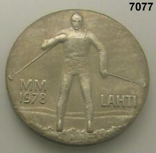 FINLAND SILVER 25 MARKKAA 1978 WINTER GAMES IN LAHTI! BU #7077