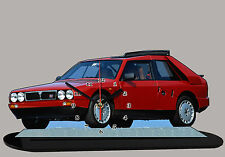 AUTO SPORTIVA MINIATURA, LANCIA-DELTA-S4-01, AUTO IN OROLOGIO MINIATURA