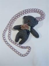 A VERY CUTE NECKLACE OF A MINIATURE TEDDY BEAR - FREE UK P&P..............CG1942