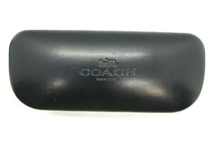 Coach New York Sunglasses Eyewear Case Clamshell Black with Embossed Logo  A5