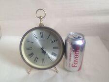 Vintage Bulova Mid Century Modern Wind Up Desk Alarm Clock Roman numerals