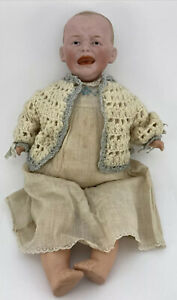 Antique Rare German Bisque Head Unusual Crying Baby Doll From 1800s 👀 KESTNER?