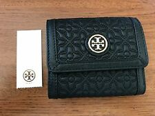 NEW Tory Burch Bryant Mini Wallet Quilted Leather Style# 34031 Black $150 **