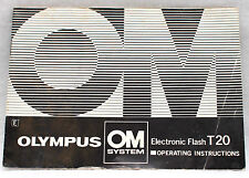 Olympus OM System Electronic Flash T20 Instruction Manual Guide