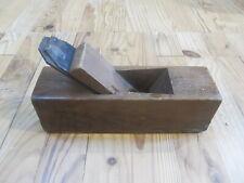 Ancien rabot en bois - Vintage - Outil de menuisier
