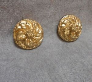 Pair of French Antique Bronze Convex NAIL COVERS : ROSACES ROSES