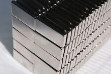 "10/25/50/100/250 RECTANGULAR MAGNETS 1"" x 1/2 x 1/8 STRONG N45 Rare E Neodymium"
