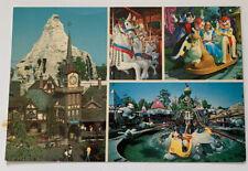 Vtg DISNEYLAND POSTCARD UNUSED Fantasyland Wonderland Pinocchio Village Unposted