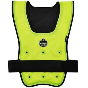 Ergodyne Chill-Its 6687 Economy Dry Evaporative Cooling Vest, Yellow (S/M, L/XL)