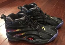 e9f4fe55b9b9 Reebok V61028 Mens Shaqnosis OG Black Purple Yellow Red Escape From LA Shoe  Sz 9