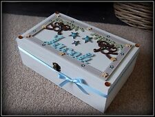 Baby Boy/ Toddler Wooden Large Cheeky Keepsake Box Gift Memory Box PERSONALISED