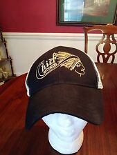 Chief Records Ball Cap Black Beige Mesh Organic Cotton Econscious One Size New