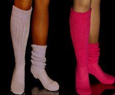 2 Flawed Slouch Socks Lilac Fushia Long Sexy Warm Comfy Scrunchie Soccer